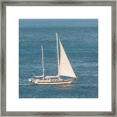 Framed Print featuring the photograph Caribbean Scooner by Gary Slawsky