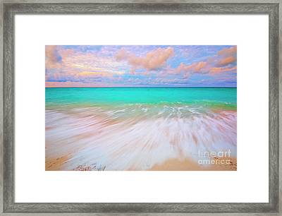 Caribbean Sea At High Tide Framed Print