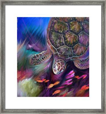 Caribbean Sea Turtle Framed Print
