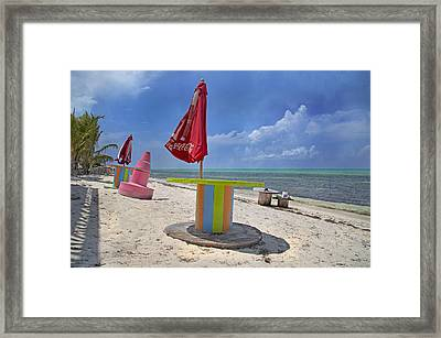 Caribbean Seaside Getaway Framed Print