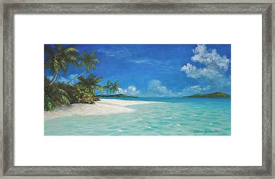 Caribbean Seclusion Framed Print