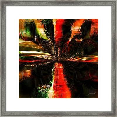 Caribbean Storm Framed Print by Fania Simon