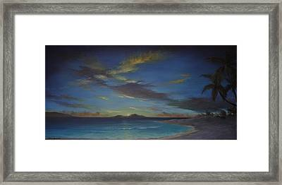 Caribbean Sunset By Alan Zawacki Framed Print