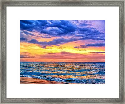 Caribbean Sunset Framed Print by Dominic Piperata