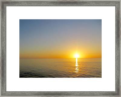 Caribbean Sunset Framed Print by Teresa Wing