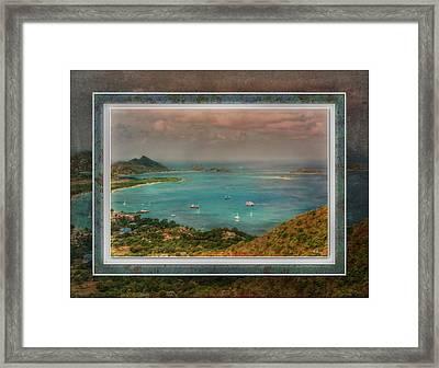Framed Print featuring the digital art Caribbean Symphony by Hanny Heim