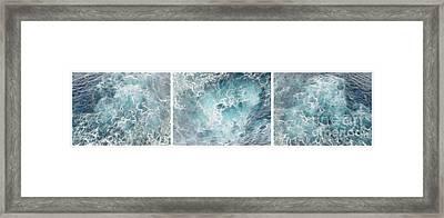 Caribbean Waters - Triptych Image Framed Print by Jason Freedman