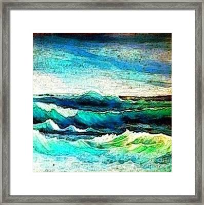 Caribbean Waves Framed Print