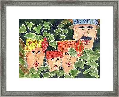Caribbean Whimsey Framed Print by Marsha Elliott
