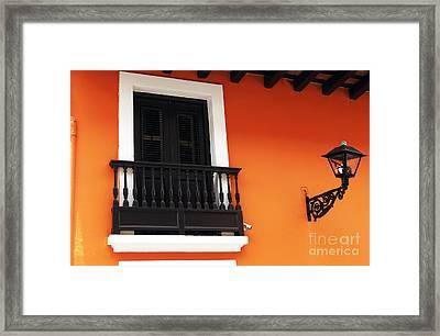 Caribbean Window Framed Print by John Rizzuto