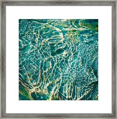 Caribben Waters Framed Print