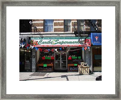 Caribe Supermarket Framed Print by Cole Thompson