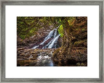 Caribou Falls In Fall Framed Print