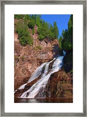 Caribou Falls Framed Print