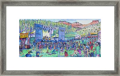 Caribou Mountain Collective At Yarmonygrass Framed Print by David Sockrider