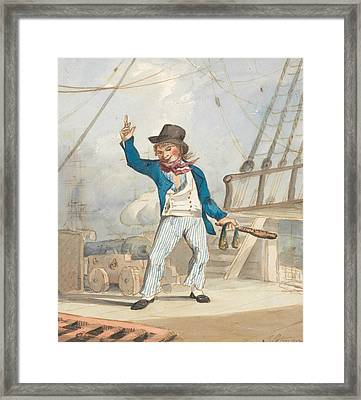 Caricature Of A Sailor Framed Print by John Sell Cotman