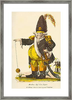 Caricature Of Andre Boniface Louis Framed Print