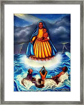 Caridad Del Cobre Framed Print by Carmen Cordova