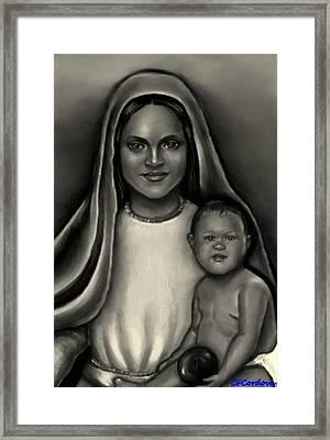 Caridad Del Cobre-lady Of Charity Framed Print