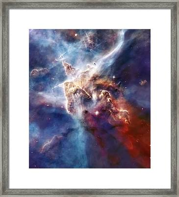 Carina Nebula Pillar Framed Print by Jennifer Rondinelli Reilly - Fine Art Photography