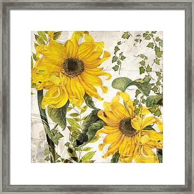 Carina Sunflowers Framed Print by Mindy Sommers