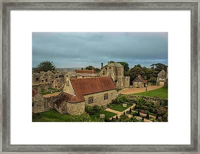 Carisbrooke Castle Isle Of Wight Framed Print by Martin Newman