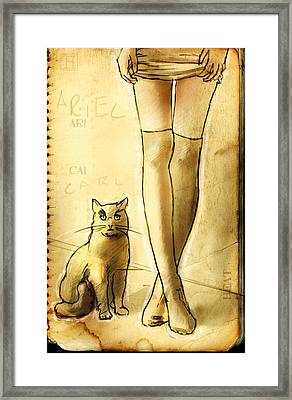 Carl And Ariel Framed Print