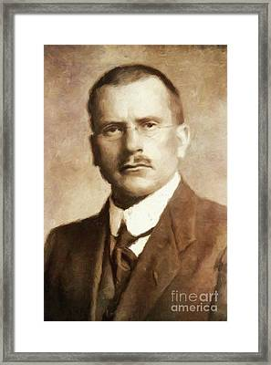 Carl Jung, Psychoanalyst By Mary Bassett Framed Print by Mary Bassett