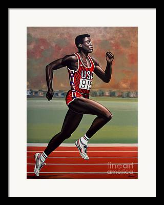Jesse Owens Framed Prints