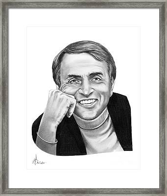 Carl Sagan Framed Print by Murphy Elliott