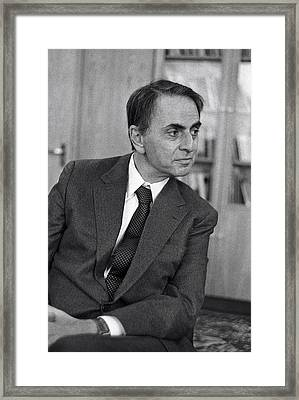 Carl Sagan, Us Astronomer Framed Print by Ria Novosti