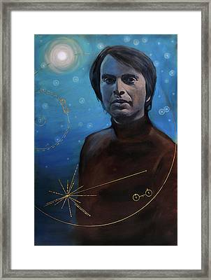 Carl Sagan- Voyager Framed Print by Simon Kregar