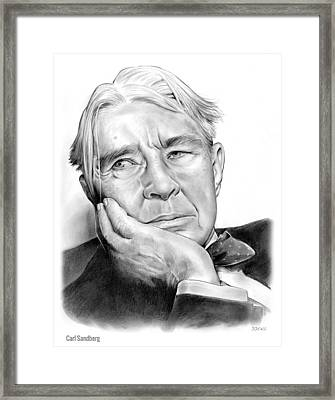 Carl Sandberg Framed Print by Greg Joens