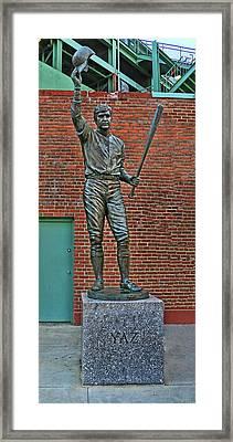 Carl Yastrzemski Statue - Fenway Park Framed Print