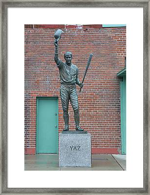 Carl Yastrzemski - Fenway Park Framed Print by Bill Cannon