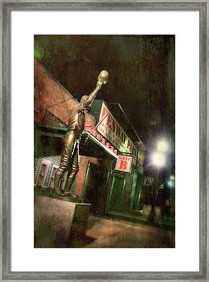 Carl Yastrzemski Statue - Fenway Park Boston Framed Print by Joann Vitali