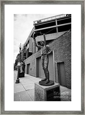 carl yastrzemski yaz statue at Fenway park home of the Boston Redsox USA Framed Print