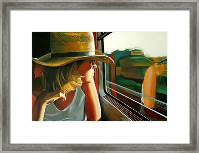 Carla Traveling Framed Print by Jose Roldan Rendon