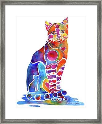 Carley Cat Framed Print by Jo Lynch