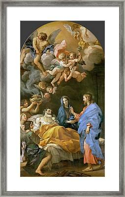 Carlo Maratti Death Of Saint Joseph.jpeg Framed Print