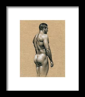 Naked Framed Prints
