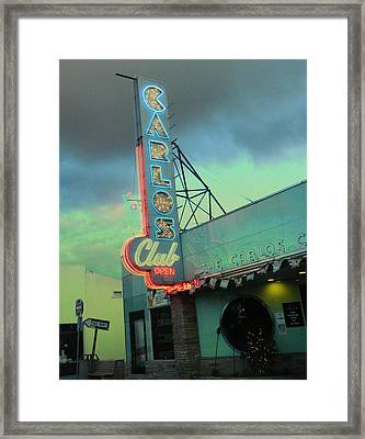 Carlos Club Framed Print