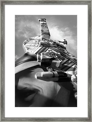 Carlos Santana In Guitar Town Framed Print by Deborah Klubertanz