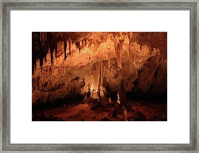 Framed Print featuring the photograph Carlsbad Caverns 2 by Marie Leslie