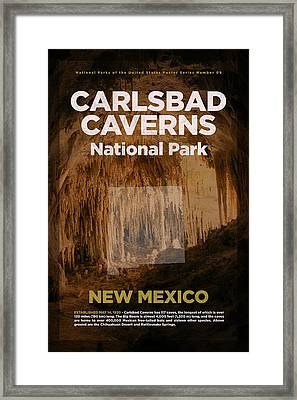 Carlsbad Caverns National Park In New Mexico Travel Poster Series Of National Parks Number 09 Framed Print