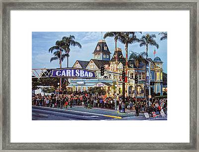 Carlsbad Village Sign Framed Print by Ann Patterson