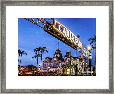 Carlsbad Welcome Sign Framed Print