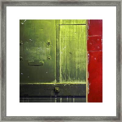 Carlton 6 - Firedoor Abstract Framed Print