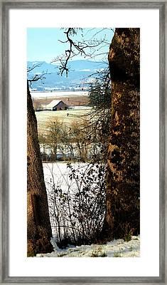 Carlton Barn Framed Print by Jerry Sodorff