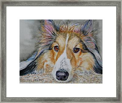 Carly Framed Print by Maria Barry